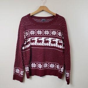 POL Reindeer Ugly Christmas Sweater